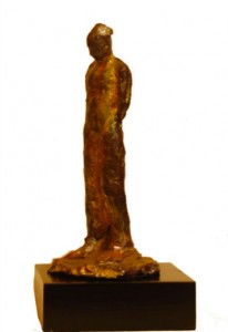 Terracotta sculpture with Raku finish