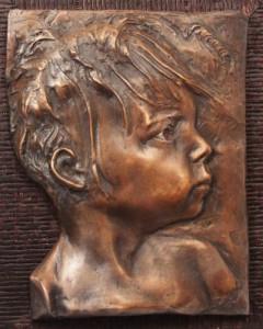 Tesla in bronze